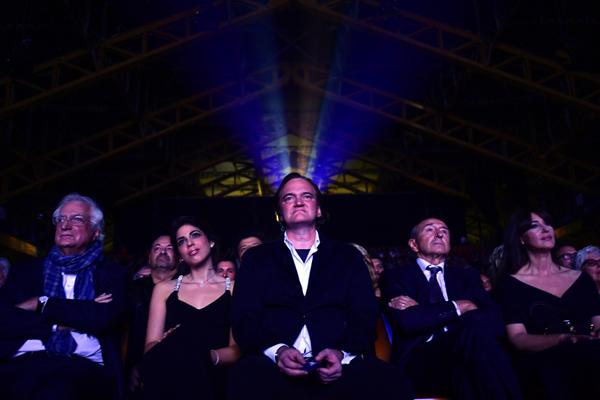 Bertrand Tavernier, Daniela Pick, Quentin Tarantino, Gérard Collomb et Monica Belluci