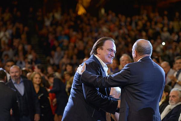 Quentin Tarantino et Gérard Collomb