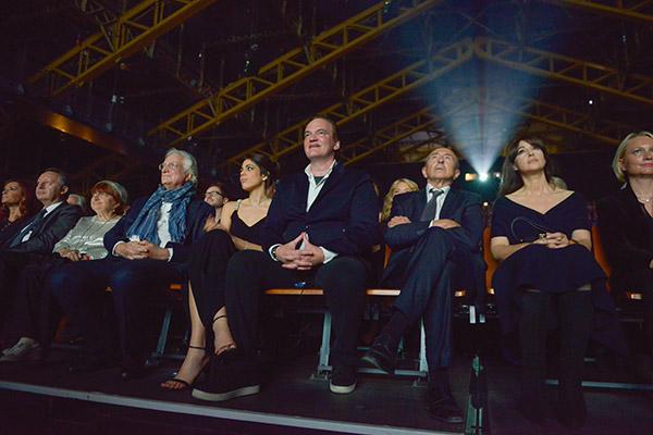 Agnès Varda, Bertrand Tavernier, Daniela Pick, Quentin Tarantino, Gérard Collomb et Monica Belluci