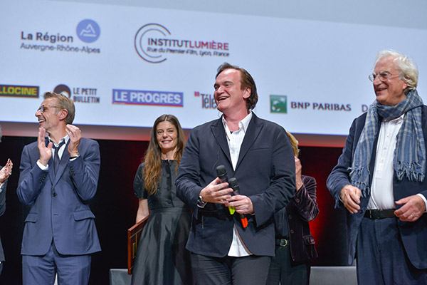 Lambert Wilson, Chiara Mastroianni, Quentin Tarantino et Bertrand Tavernier