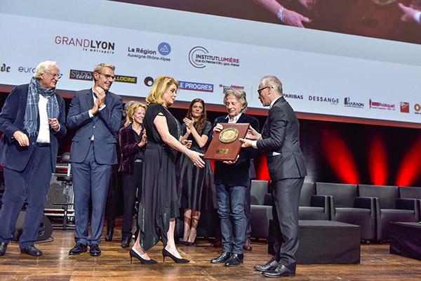 Bertrand Tavernier, Lambert Wilson, Catherine Deneuve, Roman Polanski et Thierry Frémaux
